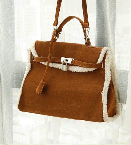 秋季糖果色撞色单肩包手提包包