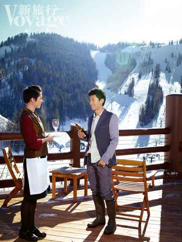 夏雨就住在鹿谷滑雪场的城堡酒店