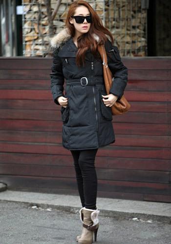 韩国女生冬季街拍图_韩国女明星冬季街拍