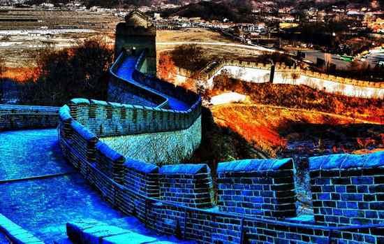丹东虎山长城美景