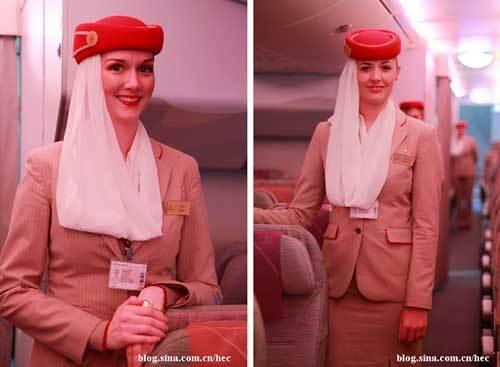 空姐甜美的微笑为此次旅程增色不少