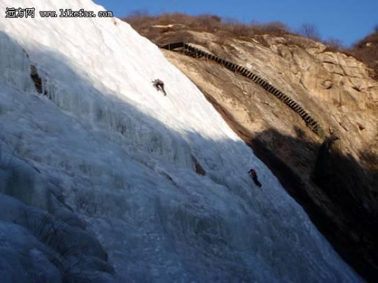 桃源仙谷的初级冰壁