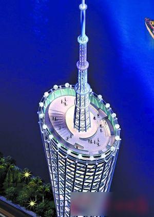 建设中的广州新电视塔