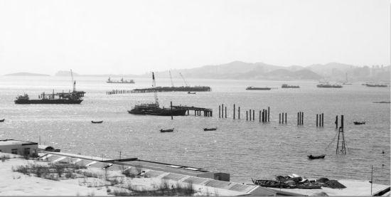 南部滨海大桥仍在施工