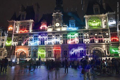 流光溢彩的夜巴黎