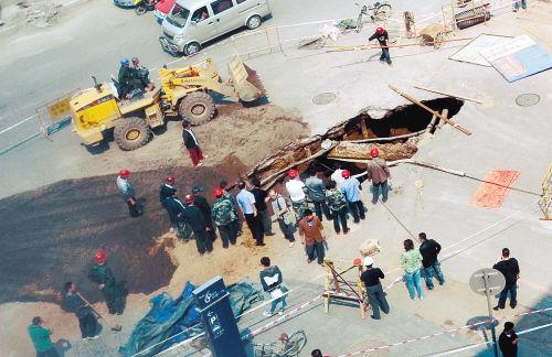圆坑铁塔基础施工图片