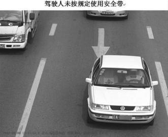 交管部门电子警察记录下的轻微交通违法行为。 警方供图
