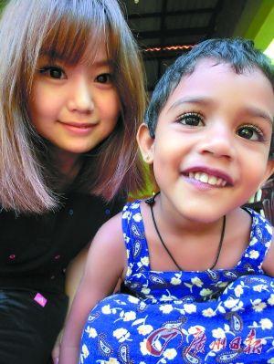 """""""LALA""""和可爱的斯里兰卡小孩。"""