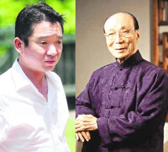 邵逸夫侄孙邵在礼(左)