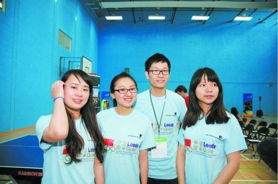 伦敦奥运会上的中国志愿者。