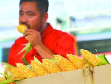 水果玉米有香瓜的味道。