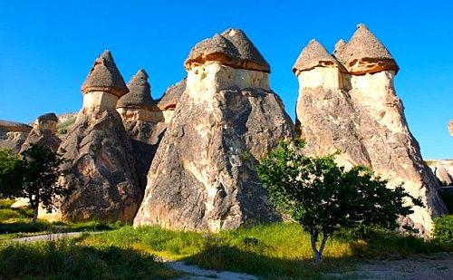 土耳其卡帕多西亚的精灵烟囱