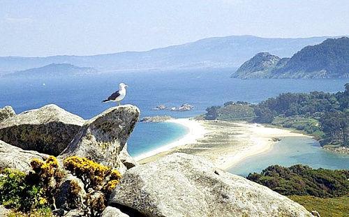 西班牙希耶斯群岛的原始海滩