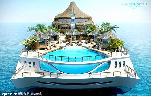 游艇上的泳池