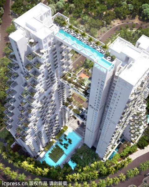"""新加坡顶级公寓""""晴宇"""""""
