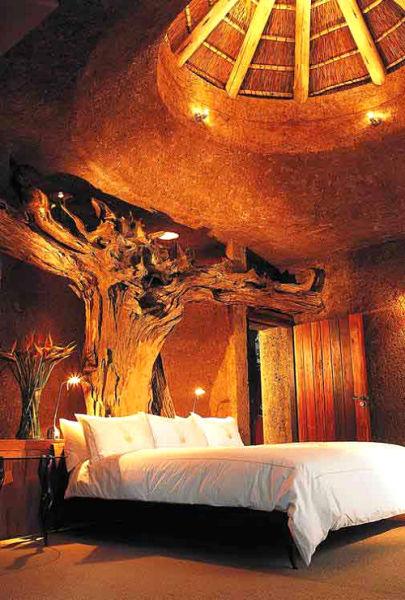 在南非琥珀总统套房中可以体验热带丛林的风情。