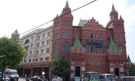俄式老建筑群图片
