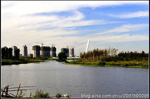 新建的景观住宅区