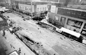 沈阳市中华路二期工程施工改造开始,中华路部分路段封路