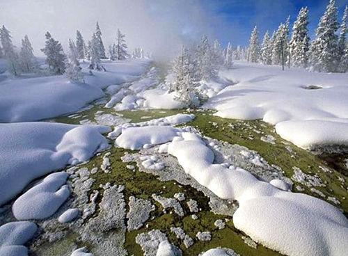 西拇指间歇泉盆地,黄石国家公园