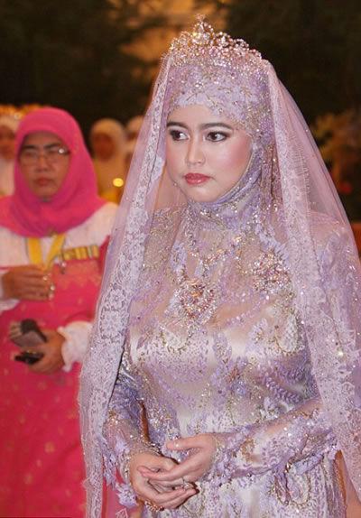 婚礼上的文莱五公主哈菲扎