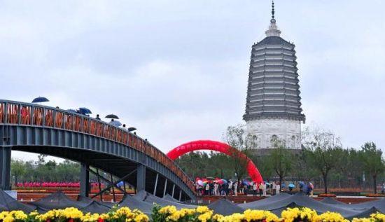 沈阳白塔公园竣工对外开放