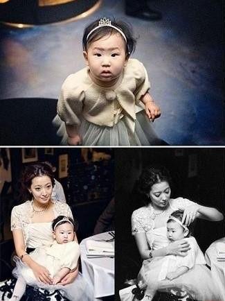 韩国第一人造美女金喜善所生女儿和漂亮妈妈相差甚大