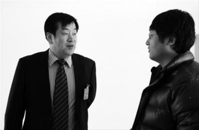 本报记者专访东陵区(浑南新区)区长赵世宏。 本报记者 马宏罡 摄