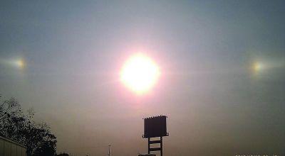 """南通上空昨出现""""3个太阳""""。"""