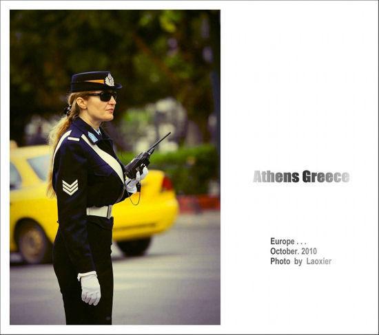 希腊女神范儿警官气场强大