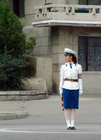 朝鲜女交警