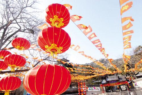 每年千山春节民俗文化庙会