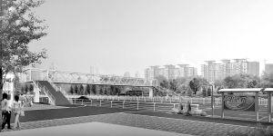 过街天桥效果图■沈阳市建委供图