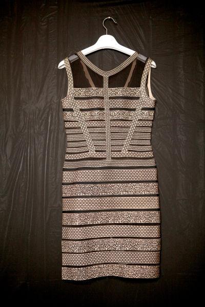 条纹包身裙629元