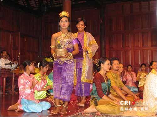 柬埔寨传统婚礼的现场