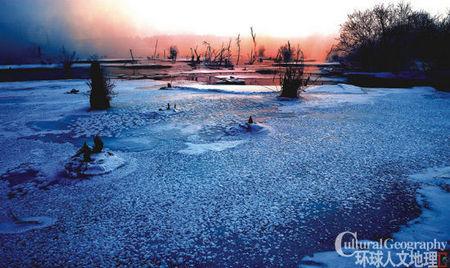 冬季的奶头河