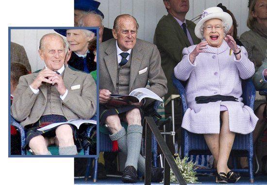 飞利浦亲王穿苏格兰短裙