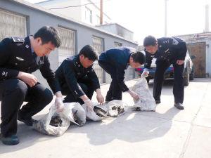 办案民警查获被毒杀的野鸟 ■警方供图