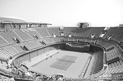 大连体育中心网球馆。资料片