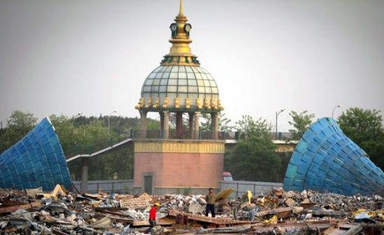 """""""亚洲最大游乐园""""荒废十几年被拆除"""