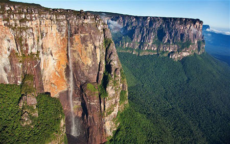 世界上最高的瀑布——委内瑞拉,安赫尔瀑布