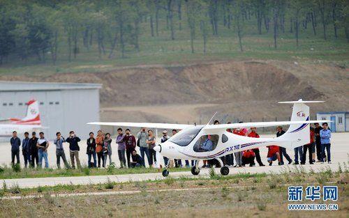 中国首款电动双座轻型飞机