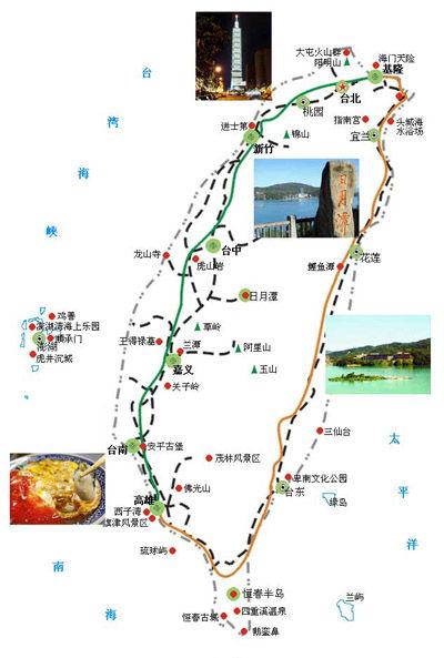 台湾景点地图