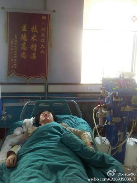 王小姐先接受了洗胃,后来又进行了全身血液透析治疗,后来医院断定她为不明化学品中毒。
