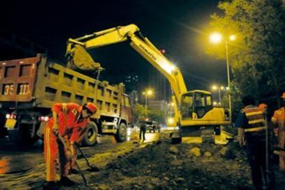 北陵大街道路整修