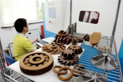 3D打印机正在打印产品。