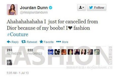 Jourdan Dunn的Twitter
