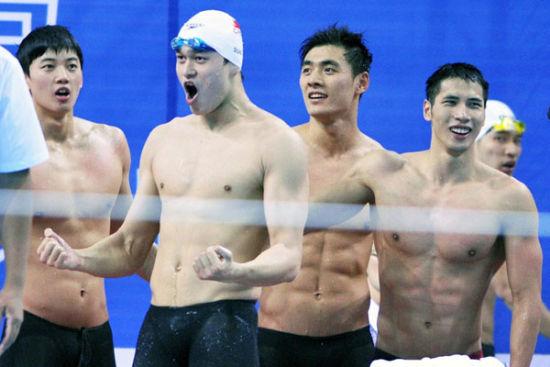 男子4X100米自由泳接力 孙杨领衔浙江夺冠
