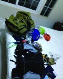 张浩夫妇拍摄的丢失物品的室内情况。 本人供图