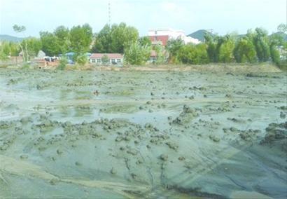 昨日上午9时,建平县青峰山镇金源矿业尾矿库溃坝,5万立方米尾矿砂灌满河道。
